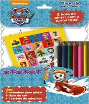 Patrulha canina - diversao para colorir - inclui 6 lapis de cor - On Line Editora -