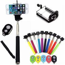 Pau de Selfie com Controle bluetooth Bastão para Selfie para Fotos e Vídeos  CORES SORTIDAS - Lx