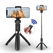 Pau De Selfie E Tripé Com Controle Bluetooth Sem Fio IOS e Android - Xtrad -