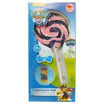 Paw Patrol Circulito Pop Pirulito Sabor Morango com Adesivo 2D 49g - Candy Fun - Dtc