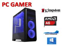 Pc Cpu Gamer Amd 3.8ghz + 4gb + SSD 120GB + Placa de Vídeo 2Gb + Wifi + Brindes - Tornado