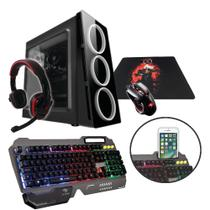 PC G-FIRE AMD A8 9600 3.4 GHz 8 GB 1 TB Radeon R7 900 MHz integrada Computador Gamer GKM HTG-236
