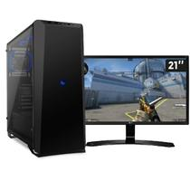 PC Gamer 3Gamer Intel Core i3-8100 8ª Geração (GEFORCE GTX 1050 2GB) 8GB 3TB Monitor 21,5 - 3green