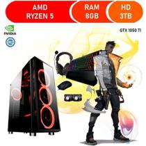 Pc Gamer Ace Ryzen 5 8 Gb de Ram Ddr4 Hd 3 Tb Gtx 1050 Ti Kit Gamer - Corporate