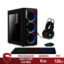PC Gamer AMD 6-Core CPU 3.8Ghz 8GB (Placa de vídeo Radeon R5 2GB) SSD 120GB Kit Gamer Skill   - Skill Gaming
