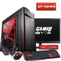 PC Gamer AMD A10 7860K 8GB Kingston Hyperx 500GB Radeon R7 128 bits e Monitor FullHD 21.5 3green
