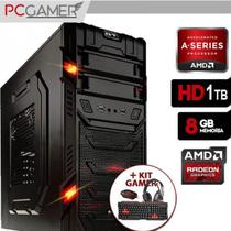 Pc Gamer AMD A6 7400k Radeon R5 8GB Ram, HD 1Tb + Kit Teclado e Mouse Gamer - Alfatec