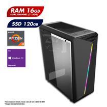 PC Gamer AMD Ryzen 3 3200G 16GB Dual Channel SSD 120GB Windows 10 PRO CertoX Stream 6139 -