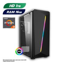 PC Gamer AMD Ryzen 3 3200G 16GB HD 1TB CertoX Stream 6101 -