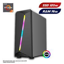 PC Gamer AMD Ryzen 3 3200G 16GB SSD 120GB CertoX Stream 6107 -