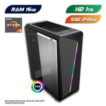 PC Gamer AMD Ryzen 3 3200G 16GB SSD 240GB  + HD 1TB CertoX Stream 6125 -
