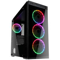 PC Gamer, AMD Ryzen 5 3600, Geforce GTX 1050 Ti 4GB, RAM 16GB DDR4 3000MHZ, SSD Kingston 480GB, A320 Asrock, 650W 80 Plus Skill Explosion -