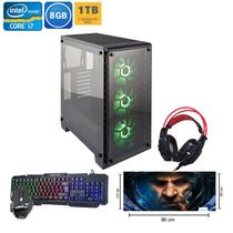 Pc Gamer Bravus i7 Geforce GTX 1650 4gb 8gb Hd 1tb + SSD 180gb