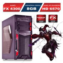 PC Gamer Bulldozer AMD FX-4300 8GB SSD 120GB WIFI - Alfatec
