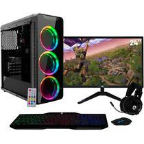 "PC Gamer com Monitor LED 24"" Full HD e Geforce GTX 1050 2GB Intel Core i3 8GB SSD 120GB HD 1TB Fonte 500W Gabinete RGB EasyPC -"