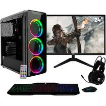 "PC Gamer com Monitor LED 24"" Full HD e Geforce GTX 1050 2GB Intel Core i7 8GB HD 1TB Fonte 500W Gabinete RGB EasyPC -"