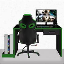 "PC Gamer Completo EasyPC Fullset Plus Intel Core i5 8GB Geforce GTX 1050 Ti + HD 2TB + SSD + Monitor 21.5"" Full HD HDMI + Kit + Cadeira Gamer + mesa -"
