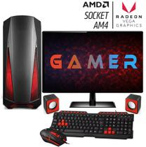 PC Gamer Completo FoxPC LVL1 AMD AM4 3.2Ghz (Radeon RX VEGA) DDR4 4GB HD 500GB Monitor LED 19.5 - Easypc