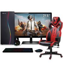 "PC Gamer Completo FoxPC PCCALED4 Intel Core i5 8GB (Geforce GTX 1050 Ti 4GB) 1TB Monitor Full HD 21.5"" HDMI Cadeira Gamer Naja - Easypc"