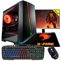Pc Gamer Completo G-Fire Htg-659 AMD 3000G 3.5Ghz 8Gb (GTX 1050) SSD 120Gb Monitor 21 Windows 10 -