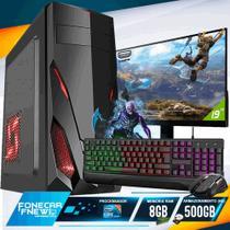 Pc Gamer Completo i5 8gb HD 500 Placa De Video Monitor - Fnew