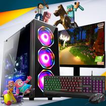 Pc Gamer Completo i5 8gb HD 500 Placa De Video Monitor - Fnew