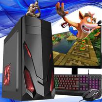Pc Gamer Completo I5 8gb HD 500 Placa de Vídeo Monitor HDMI - Fnew