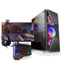 Pc Gamer Completo i5 GTX 1050 Hd 1Tb SSD 480Gb Monitor 27 - Amorim Shop