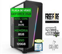 Pc Gamer Completo Intel 8gb SSD 120GB G-FORCE 2GB  Wi-fi Com Garantia - Conect PC