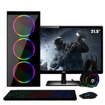 "PC Gamer Completo Intel Core i5 RAM 8GB (Geforce GTX 1050 2GB) SSD 480GB 500W Monitor Full HD 21.5"" FoxPC Power -"