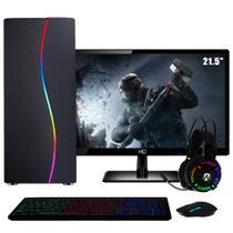 "PC Gamer Completo Intel Core i5 RAM 8GB (Geforce GTX 1050 Ti 4GB) SSD 240GB 500W Monitor Full HD 21.5"" FoxPC Power -"