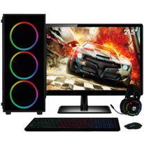 "PC Gamer Completo Intel Core i7, Geforce GTX 1650 4GB, 8GB, Monitor 21.5"" Full HD, SSD 480GB, 500W, 3green XP -"