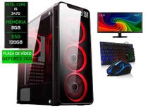Pc Gamer Completo Intel i5 8gb SSD 120gb G-force 2gb Monitor 18 Pol - Conect PC