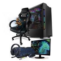 PC Gamer Completo Neologic Start NLI81445 Ryzen 5 2400G 8GB (Radeon RX Vega 11 Integrado) SSD 480GB + Cadeira Gamer -