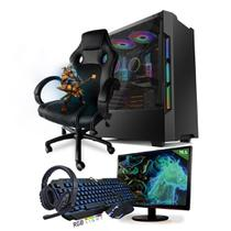 PC Gamer Completo Neologic Start NLI81457 Ryzen 5 2400G 8GB (Radeon RX Vega 11 Integrado) SSD 480GB + Cadeira Gamer -