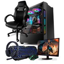 Pc Gamer Completo Neologic Start NLI81836 AMD 3000G 8GB (Radeon Vega 3 Integrado) 1TB + Cadeira Gamer -