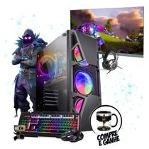 "Pc Gamer Completo Raven i5 4ºGer. GTX 1050 8Gb SSD 480Gb 24"" - Amorim"