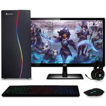 PC Gamer Completo Roda Tudo AMD A6 3.8GHZ Placa de vídeo Radeon R5 2GB HD 500GB 8GB  Monitor LED HDMI 19.5