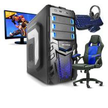 Pc Gamer Completo SmaRt Pc SMT81074 i5 8GB (Geforce GTX 1050TI 4GB) 1TB + Cadeira Gamer - Neologic