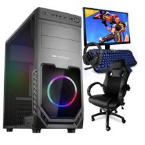 Pc Gamer Completo Smart Pc SMT81292 Intel i5 8GB (GeForce GTX 1650 4GB) 1TB + Cadeira Gamer -