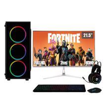 PC Gamer Completo XP Intel Core i5 8GB (Placa de vídeo Geforce GT 1030 2GB) HD 2TB 500W 3green Monitor 21,5 Prata 75Hz -