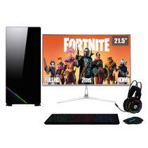 PC Gamer Completo XP Intel Core i7 8GB (Placa de vídeo Geforce GT 1030 2GB) HD 2TB 500W 3green Monitor 21,5 Prata 75Hz -