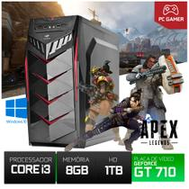 Pc Gamer Cpu Intel Core I3 8gb Ram+hd 1tb GT710 2g + 10 Jogos Brinde - Yesstech