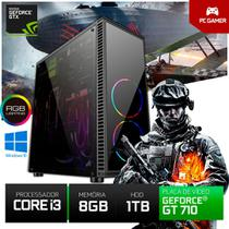 Pc Gamer Cpu Intel Core I3 8gb Ram+hd 1tb GT710 2gb Windows + RGB + Jogos - Yesstech
