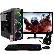 "PC Gamer EasyPC Completo Monitor LED 21.5"" AMD Quad Core Ryzen 3 2200G 3.7ghz 8GB (Radeon Vega 8 Graphics ) 1TB Mouse Teclado Headset -"