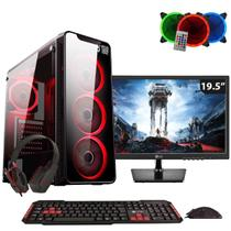 PC Gamer EasyPC FirstBlood AMD A10 4-Core 3.8Ghz (Radeon R7) 8GB DDR4 500GB Monitor 19.5