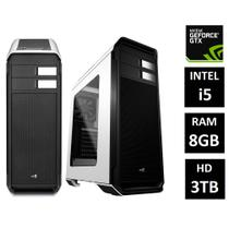 PC Gamer EasyPC FPS Intel Core i5 8GB (GeForce GTX 1050 2GB) HD 3TB DVI Display Port HDMI Gabinete Aero 500 White