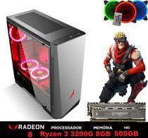 PC Gamer Explose Z6-1 AMD Ryzen 3200G 4.0GHZ (Placa de vídeo Radeon VEGA 8) 8GB BALLISTIX 2666MHZ DDR4 HD 500GB - 3Green
