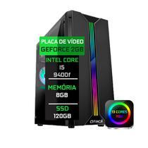 PC Gamer Fácil Intel Core i5 9400F (Nona Geração) 8GB DDR4 Placa de Vídeo Geforce GT 730 2GB SSD 120GB - Fácil Computadores