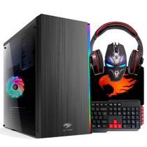 PC Gamer G-FIRE Com kit Htg-702 AMD Ryzen 3 2200G 8GB (Radeon Vega 8) SSD 120Gb -